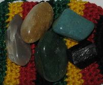 good luck healing stone kit amazonite dravide champagne tourmaline citrine aventurine moonstone
