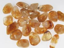 photo of amber madiera colored citrine tumbled stones from brazil