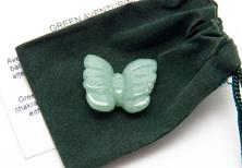 Photo of carved green aventurine butterfly