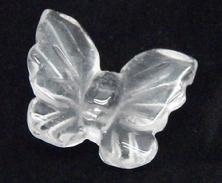 Photo of carved clear crystal quartz butterfly