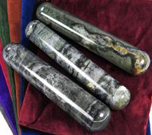 Photo of infinity stone from india, large massage wands, serpentine and quartz, metaqphysical healing crystal gemstone