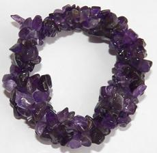 aMETHYST cRYSTAL triple strand twist bracelet Chips