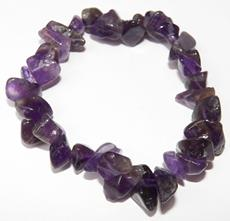 Beautiful Chunky Chip Amethyst Crystal Bracelet