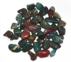 Photo of fancy jasper from India.  Includes bloodstone, yellow jasper, green, red, and moss jaspers