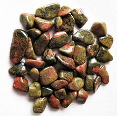 photo of tumbled unakite stones from australia