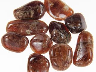 photo of tumbled spessartine garnet from Mwakaijembe in the Umba River Valley, Tanzania, perfect for metaphysical use, jewelry supply