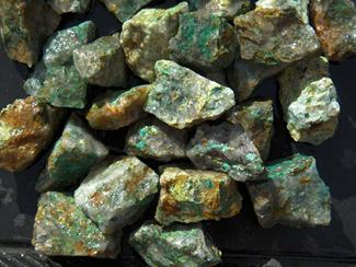 chrysocolla, copper, malachite, azurite, mineral, tumbling rock, madagascar