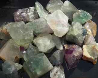 fluorite, gemstone, rough, tumbling rock, crystal, healing