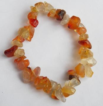 Beautiful bracelet made of large tumbled chunky pieces of carnelian agate beads