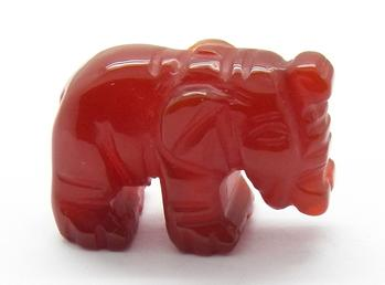 photo of carved carnelian agate elephant