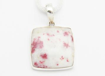 photo of cinnabar scapolite cinnabite sterling silver pendant