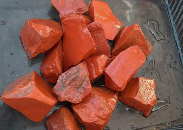 PHOTO OF ROUGH RED JASPER FROM INDIA