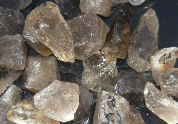 smoky quartz, smokey, Brazil, tumbling rock, rough, stones, crystals