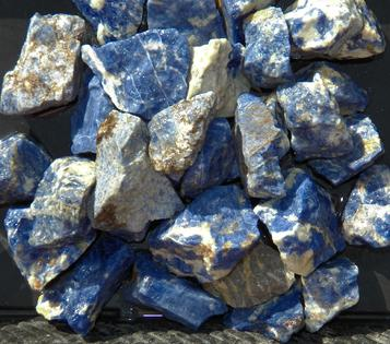 sodalite, brazil, tumbling rock, rough stones, crystals