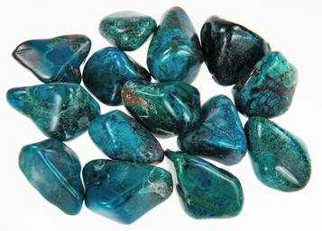 photo of South African chrysocolla, a secondary copper mineral from oxidation level below copper deposits