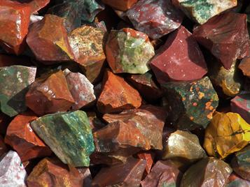 photo of fancy jasper rough tumbling rock from India