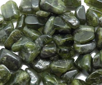 Photo of tumbled idocrase vesuvianite from Mali