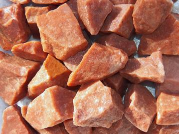 red aventurine, india, tumbling rock, rough, stones, crystals