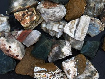 sea jasper, fish eye jasper, ocean jasper, tumbling rock, madagascar, stones, rough, crystals, fossils