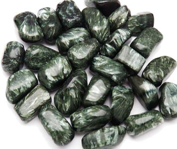 PHOTO of tumbled seraphinite from Siberia