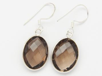 photo of smoky quartz medium earrings