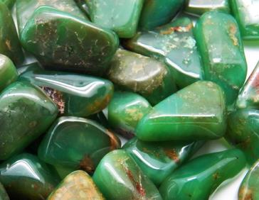 photo of tumbled chrysoprase from Australia