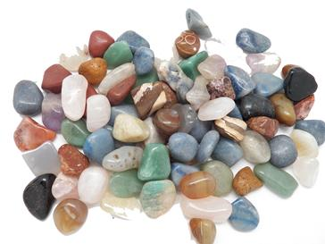 Mixed tumbled stones from Brazil